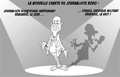 Dessin de crichard journaliste bobo