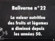 Baliverne 22 : valeur nutritive des fruits et legumes