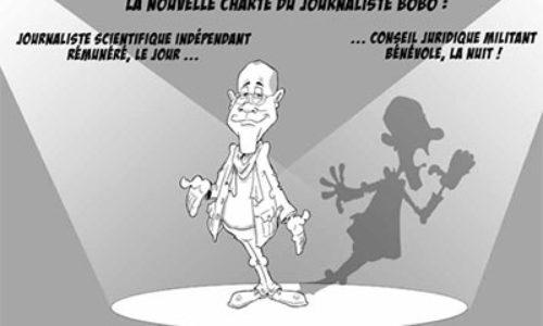 Dessin de crichard journaliste bobo