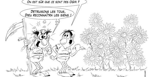 dessin de CRichard faucheurs volontaire : desobeissance civile