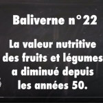 La valeur nutritive des fruits et légumes a diminué depuis les années 50 / baliverne #22